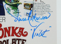 """""""Willy Wonka & The Chocolate Factory"""" 12x18 Photo Signed By (4) With Peter Ostrum, Paris Themmen, Denise Nickerson & Julie Dawn Cole Inscribed """"Mike TeeVee"""" & """"Violet"""" (JSA COA) at PristineAuction.com"""