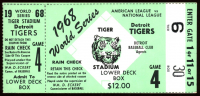 1968 World Series Game 4 Ticket Stub at PristineAuction.com