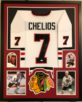 Chris Chelios Signed 34x42 Custom Framed Jersey (JSA COA) at PristineAuction.com