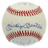 Mickey Mantle, Yogi Berra & Whitey Ford Signed OAL Baseball (PSA LOA) at PristineAuction.com
