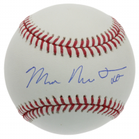 Mike Trout Signed Full Name Michael Nelson Trout OML Baseball (MLB Hologram) at PristineAuction.com