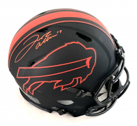 Josh Allen Signed Bills Full-Size Authentic On-Field Eclipse Alternate Speed Helmet (Beckett COA) at PristineAuction.com