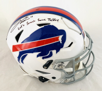 """Josh Allen Signed Bills Full-Size Authentic On-Field SpeedFlex Helmet Inscribed """"Let's Smash Some Tables!"""" (Beckett COA) at PristineAuction.com"""
