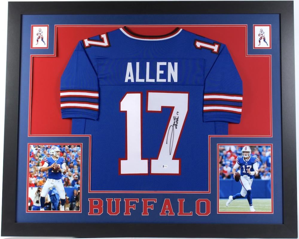 Josh Allen Signed 35x43 Custom Framed Jersey (Beckett COA ...