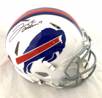 Josh Allen Signed Bills Full-Size Authentic On-Field Speed Helmet (Beckett COA) at PristineAuction.com