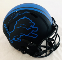 D'Andre Swift Signed Lions Full-Size Eclipse Alternate Speed Helmet (Fanatics COA) at PristineAuction.com