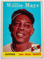 Willie Mays 1958 Topps #5 at PristineAuction.com