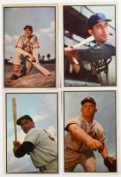Lot of (4) 1953 Bowman Color Baseball Cards with #78 Carl Furillo, #156 Max Surkont, #81 Enos Slaughter, & #152 Clyde Vollmer at PristineAuction.com