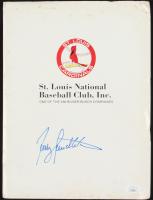 Lot of (8) Cardinals Baseball Flats With Terry Pendleton Signed Folder (JSA COA) at PristineAuction.com