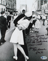 George Mendonsa Signed 8x10 Photo with Multiple Inscriptions (Beckett COA) at PristineAuction.com
