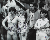 Nadia Comaneci & Bela Karolyi Signed Team Romania 8x10 Photo (Beckett COA) at PristineAuction.com