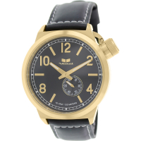 Vestal Unisex  Canteen Leather Analog Display Quartz Black Watch at PristineAuction.com