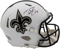 Drew Brees Signed Saints Full-Size Authentic On-Field Matte White Speed Helmet (Radtke COA) at PristineAuction.com