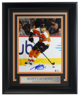 Scott Laughton Signed Flyers 11x14 Custom Framed Photo Display (Beckett COA) at PristineAuction.com