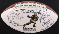 Heisman Trophy Logo Football Signed By (25) With Bo Jackson, Herschel Walker, Eric Crouch, Charlie Ward, Ricky Williams With Multiple Inscriptions (JSA ALOA) at PristineAuction.com