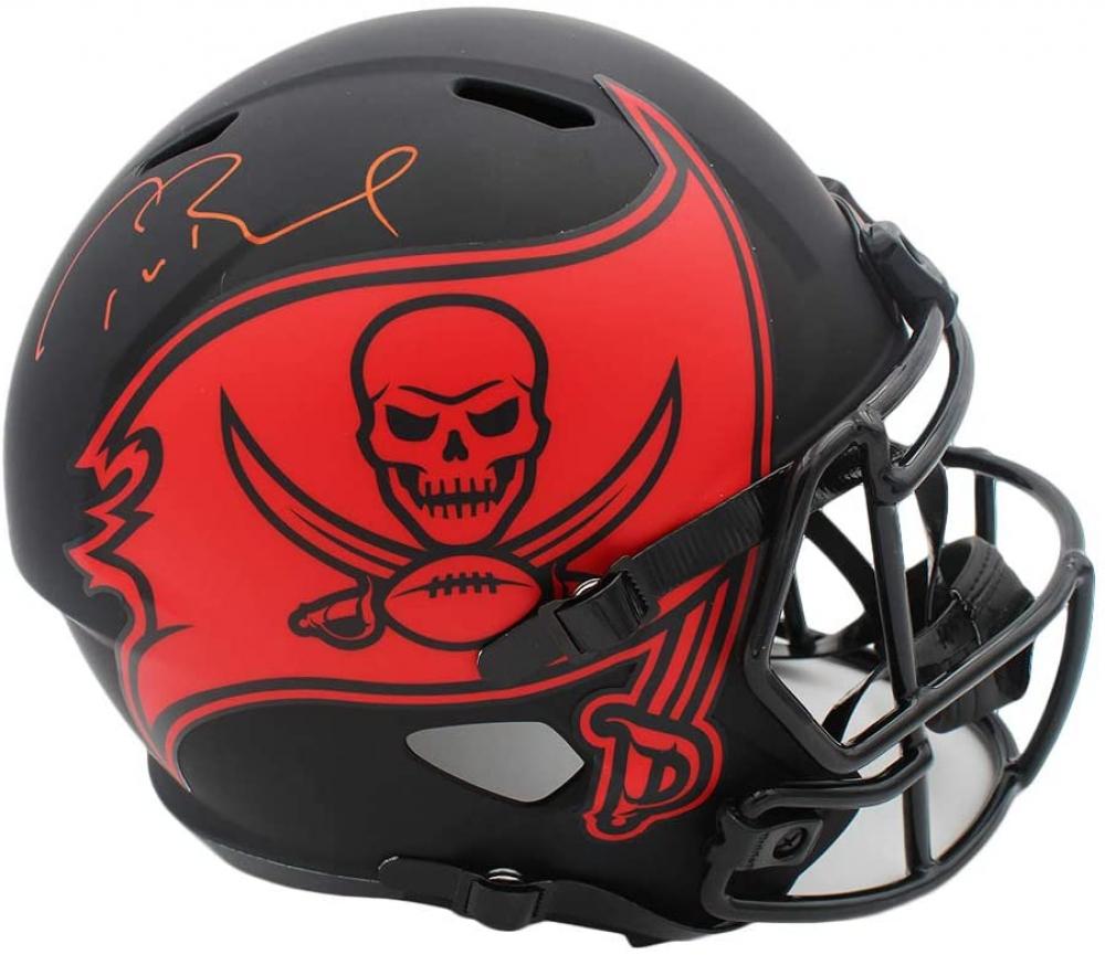 Tom Brady Signed Buccaneers Full-Size Eclipse Alternate Speed Helmet (Tristar Hologram) at PristineAuction.com