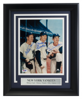 Whitey Ford, Mickey Mantle & Billy Martin Signed Yankees 11x14 Custom Framed Photo Display (PSA LOA) at PristineAuction.com