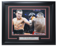 Oscar De La Hoya Signed 16x20 Custom Framed Photo Display (Beckett COA) at PristineAuction.com