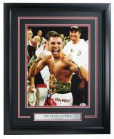 Oscar De La Hoya Signed 16x20 Custom Framed Photo Display (Beckett COA) at PristineAuction.com