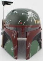 """Jeremy Bulloch Signed """"Star Wars"""" Boba Fett Full-Size Helmet Inscribed """"Boba Fett"""" (JSA COA) (See Description) at PristineAuction.com"""