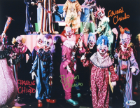 """Stephen Chiodo, Charlie Chiodo, & Edward Chiodo Signed """"Killer Klowns From Outer Space"""" 11x14 Photo (Beckett COA) at PristineAuction.com"""