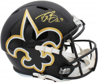 Drew Brees Signed Saints Full-Size AMP Alternate Speed Helmet (Radtke COA) at PristineAuction.com