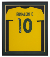 Ronaldinho Signed 32x36 Custom Framed Jersey (Beckett COA) at PristineAuction.com