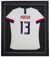 Alex Morgan Signed 32x36 Custom Framed Jersey (JSA COA) at PristineAuction.com