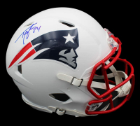 Ty Law Signed Patriots Full-Size Authentic On-Field Matte White Speed Helmet (Radtke COA) at PristineAuction.com