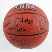 NBA Basketball Signed by (5) With Jerry West, Walt Frazier, Earl Monroe, Calvin Murphy With Multiple Inscriptions (JSA COA) at PristineAuction.com