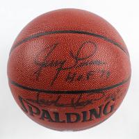 "Jerry Lucas & Isiah Thomas Signed NBA Basketball Inscribed ""H.O.F. '79"" & ""H.O.F. 2006""  (JSA COA) at PristineAuction.com"