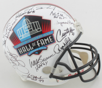 Pro Football Hall of Fame Full-Size Helmet Signed By (31) with Jim Kelly, Willie Lanier, Rayfield Wright, Dave Wilcox with Multiple Inscriptions (JSA ALOA) at PristineAuction.com