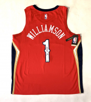 Zion Williamson Signed Pelicans Jersey (Fanatcis Hologram) at PristineAuction.com