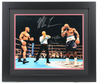 """Mike Tyson & Evander Holyfield Signed """"The Bite Fight"""" 23x27 Custom Framed Photo Display (JSA COA) (See Description) at PristineAuction.com"""