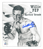 Willie Pep Signed 8.5x10 Photo (Beckett COA) at PristineAuction.com