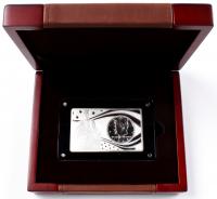 John F. Kennedy 100th Anniversary 2 oz. .999 Silver Bar with 1964 Kennedy Half Dollar at PristineAuction.com