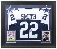Emmitt Smith Signed 31x36 Custom Framed Jersey Display (Beckett Hologram) (See Description) at PristineAuction.com