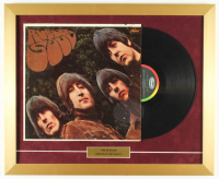 "Vintage The Beatles ""Rubber Soul"" 18x22 Custom Framed Vinyl Record Display at PristineAuction.com"