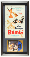 "Walt Disney's ""Bambi"" 14.5x27.5 Custom Framed Vintage 8mm Film Reel Display at PristineAuction.com"