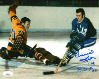 "Dave Keon Signed Maple Leafs 8x10 Photo Inscribed ""H.O.F. 86"" (JSA COA) at PristineAuction.com"