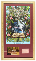 "Disneyland Adventureland's ""Jungle Cruise"" 15x26 Custom Framed Print with Vintage Postcard & Original Vintage Jungle Cruise E-Ride Ticket at PristineAuction.com"