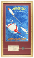 "Disneyland Tomorrowland ""Astro-Jet"" 15x23 Custom Framed Print Display with Vintage Pin & Vintage 1960s Ticket at PristineAuction.com"