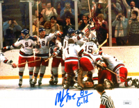 """Mike Eruzione Signed Team USA """"Miracle On Ice"""" 8x10 Photo Inscribed """"80 Gold"""" (JSA COA) at PristineAuction.com"""