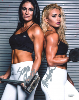 Sonya Deville & Mandy Rose Signed 8x10 Photo (JSA COA) at PristineAuction.com