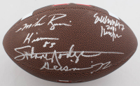 "Johnny Rodgers, Mike Rozier & Eric Crouch Signed Nebraska Cornhuskers Logo Football Inscribed ""Heisman 72"", ""Heisman 83"", & ""2001 Heisman"" (Schwartz Sports COA) at PristineAuction.com"