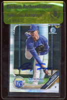 Brady Singer Signed 2019 Bowman Chrome National Convention Wrapper Redemption #BNRBS (BGS Encapsulated) at PristineAuction.com