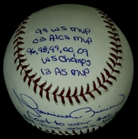 """Mariano Rivera Signed """"All-Time Saves Leader"""" Commemorative OML Baseball with (11) Career Highlight Inscriptions (PSA COA) at PristineAuction.com"""