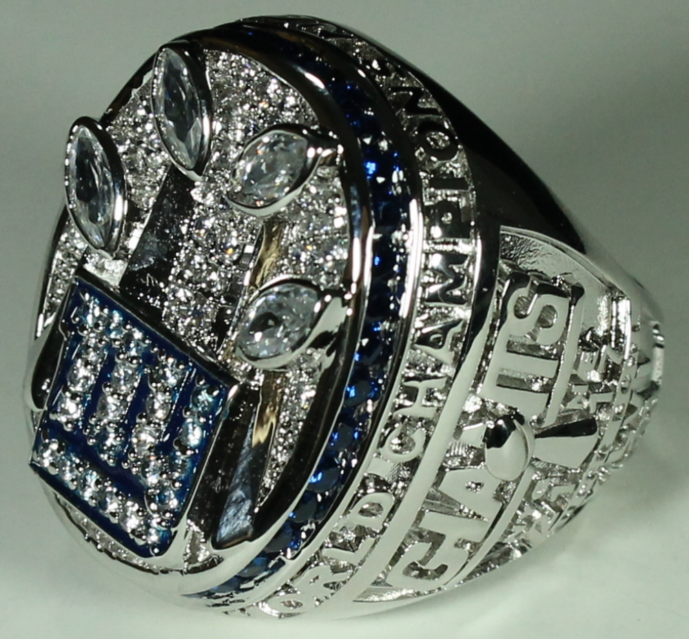 Eli Manning New York Giants High Quality Replica 2011 Super Bowl Xlv Championship Ring With Cherry