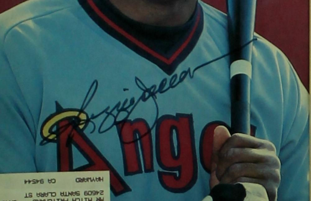 reggie jackson signed angels sports illustrated magazine 11x14 custom frame autograph reference coa at