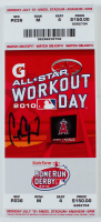 Carl Crawford Signed 2010 Commemorative Workout Day Mega Ticket (JSA COA) at PristineAuction.com